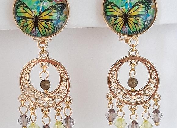 Boucles d'Oreilles- Clips Papillon