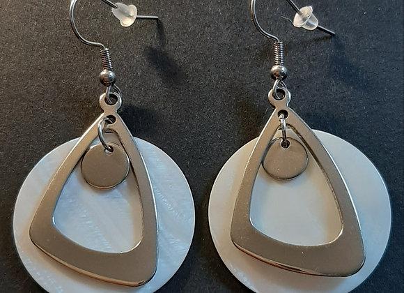 Boucles d'Oreilles- Formes géométriques Nacre