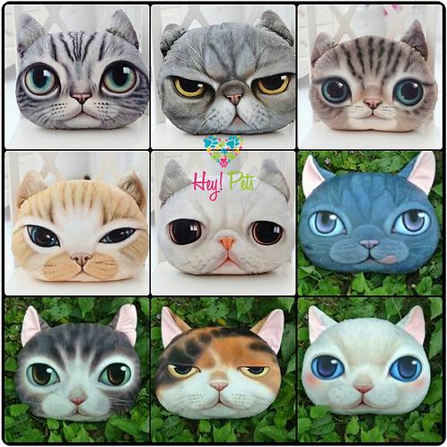 Cojines cara de gato