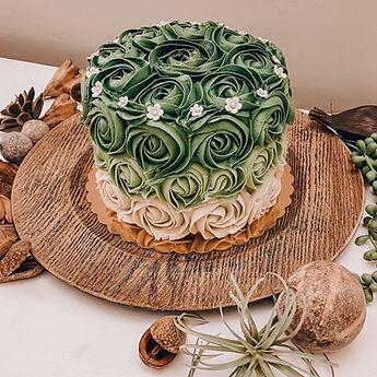 Custom Cake - Green Roses.jpg