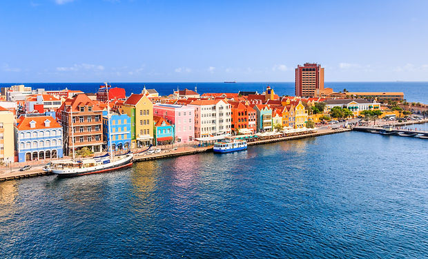 View of downtown Willemstad. Curacao, Ne