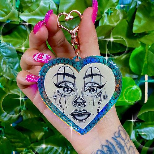 Heart Payasa Hologram Key Chain