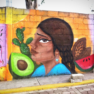 Mural in Tepontle, Cholula Puebla, Mexico. Apart of Women on Walls Project.
