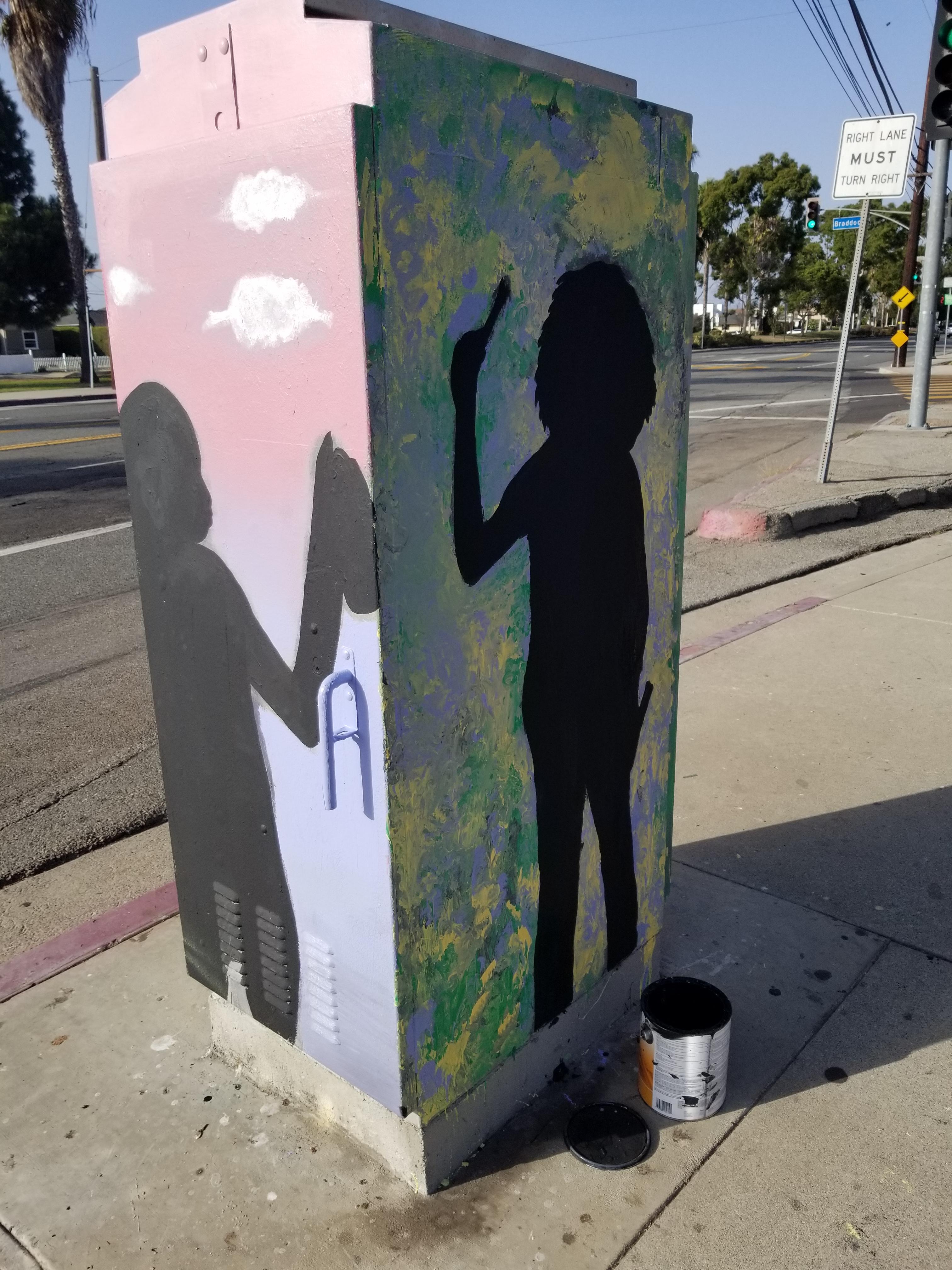 Marina Del Rey School Utility Box