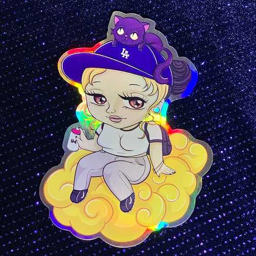 Chibi Yher Hologram Sticker