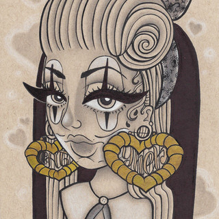 Mixed Media on Toned Paper