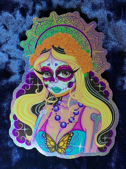 Catrina Hologram Sticker