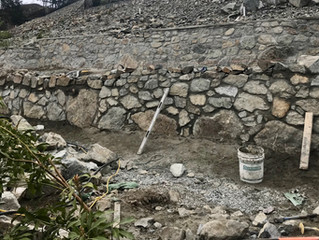 Stone Retaining Walls, Stairways and Water-Features on Bear Mountain Resort, Victoria, BC