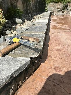 Stone Retaining Wall, Victoria BC, Lenno
