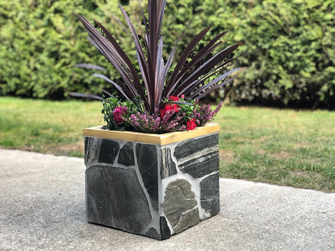 Lennox Masonry, Victoria BC, Stone Planter