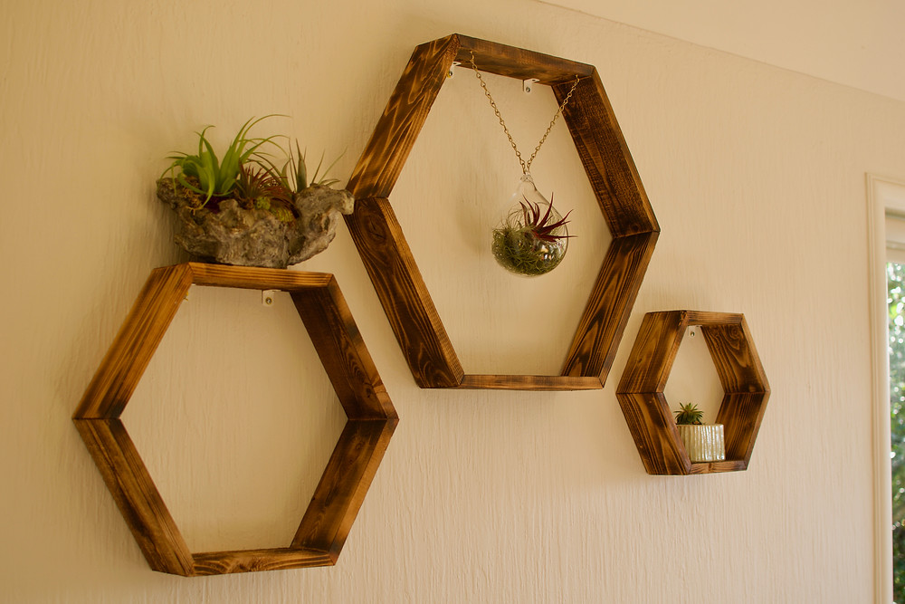 Hexagon Shelves, Victoria BC, Beyond Handy, Contractor, Handyman