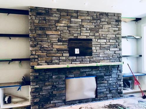 Lennox Masonry, Stone Fireplace, Victoria BC