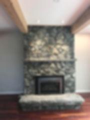 Stone Fireplace, Lennox Masonry, Victori