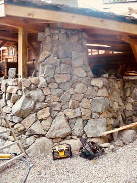 Stone Chimney, Victoria BC, Lennox Masonry