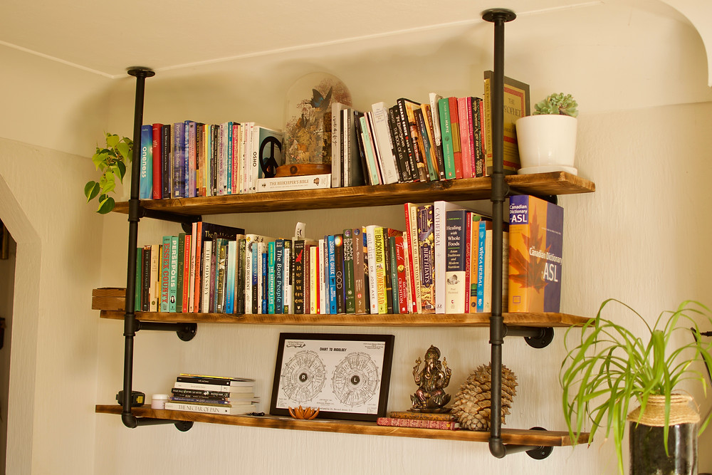 Gas Pipe and Cedar Shelving, Victoria BC, Beyond Handy, Handyman, Contractor