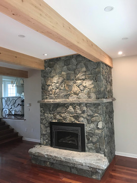 Stone Fireplace, Lennox Masonry, Victoria BC
