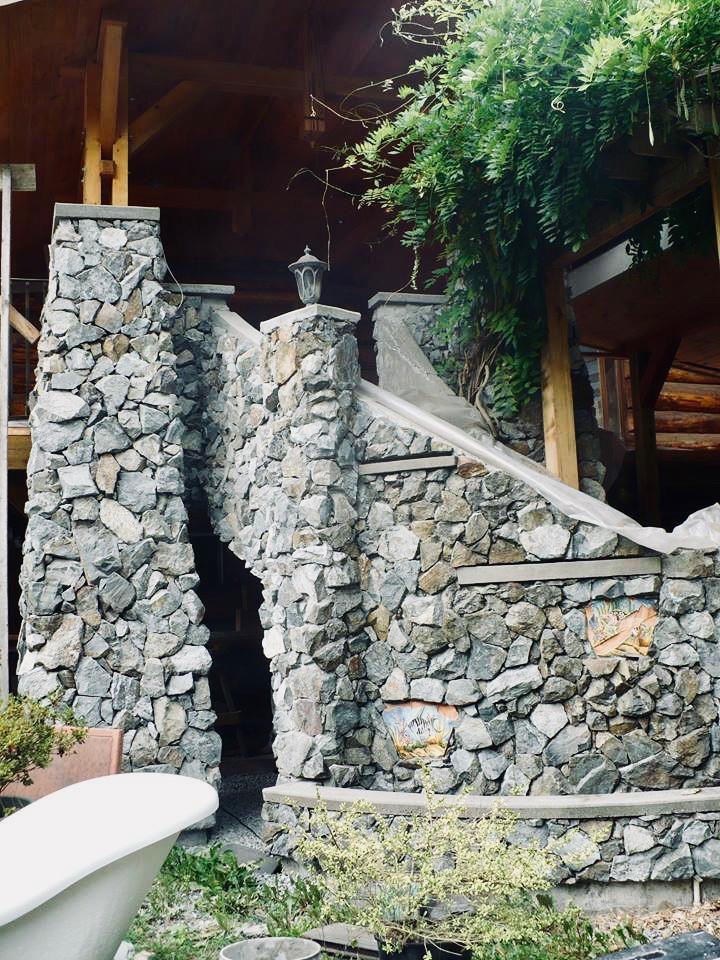 Blast Rock Stairs, Lennox Masonry, Masonry Contractor, Stonemason, Victoria, BC