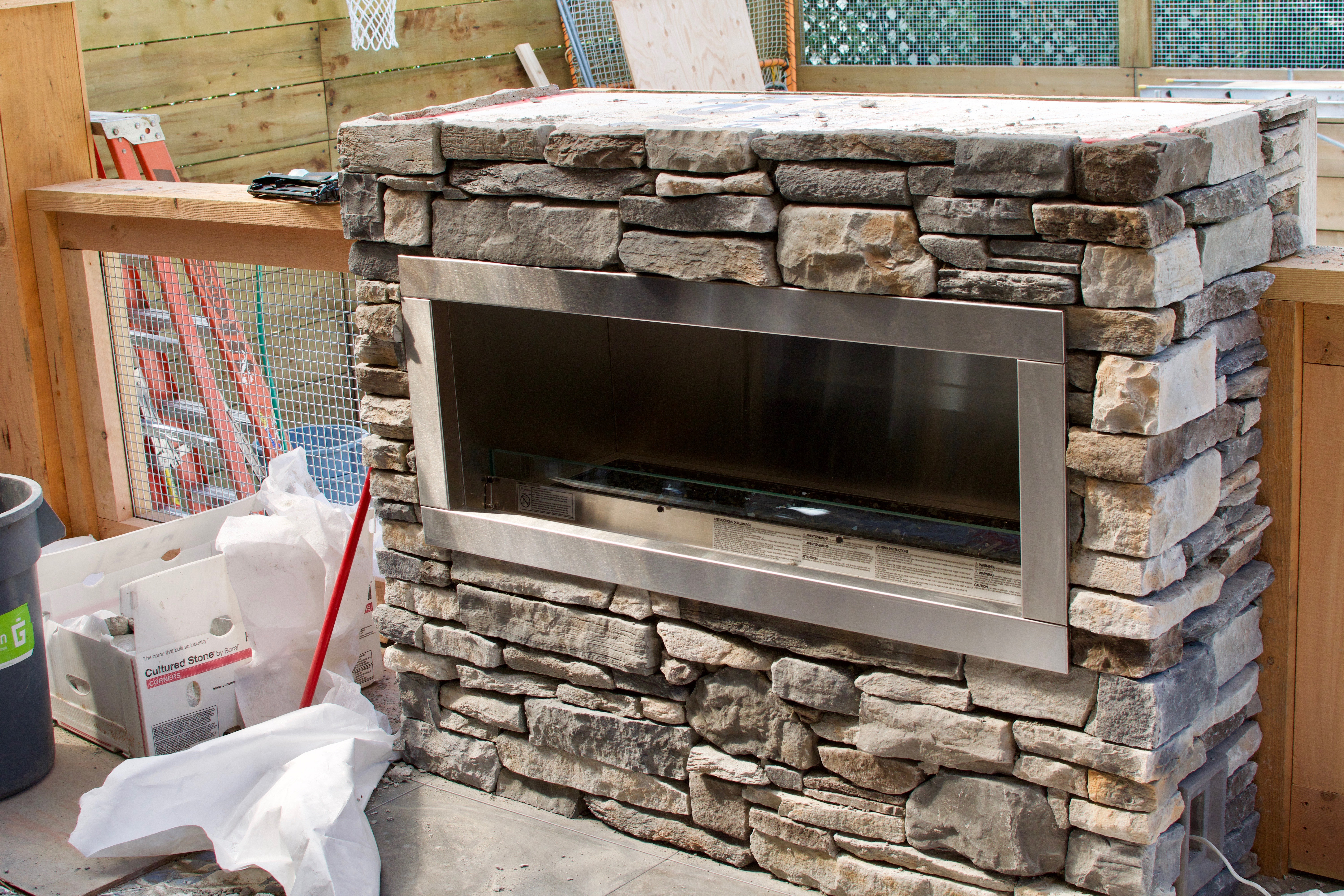 Stone Fireplace, Victoria BC