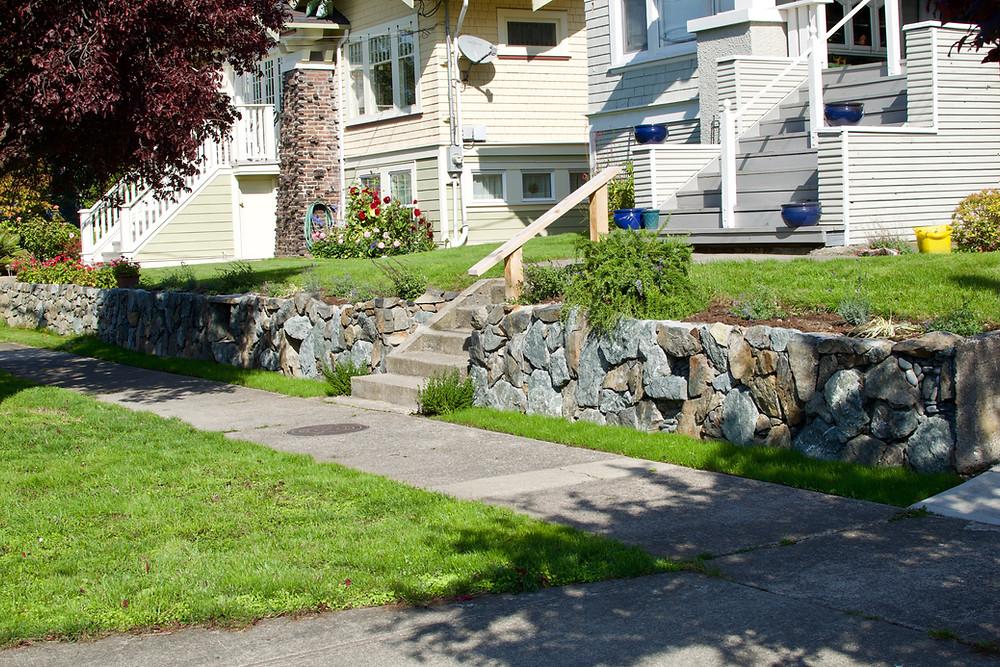 Stone and Garden, Victoria BC, Lennox Masonry, Stonework