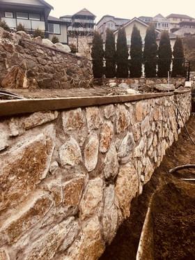 Stone Wall, Victoria BC, Lennox Masonry