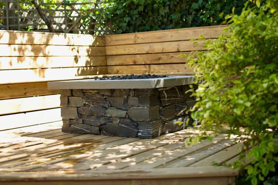 Stone Fire Pit, Victoria BC, Lennox Masonry, Masonry Contractor