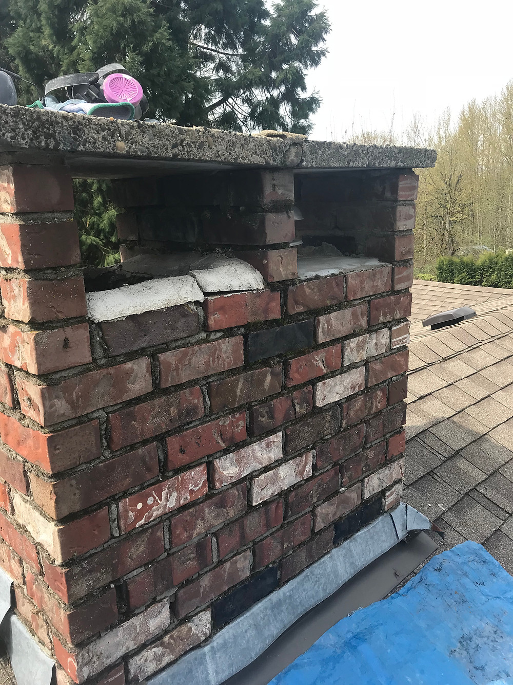 Brick Chimney Repair, Lennox Masonry, Victoria BC