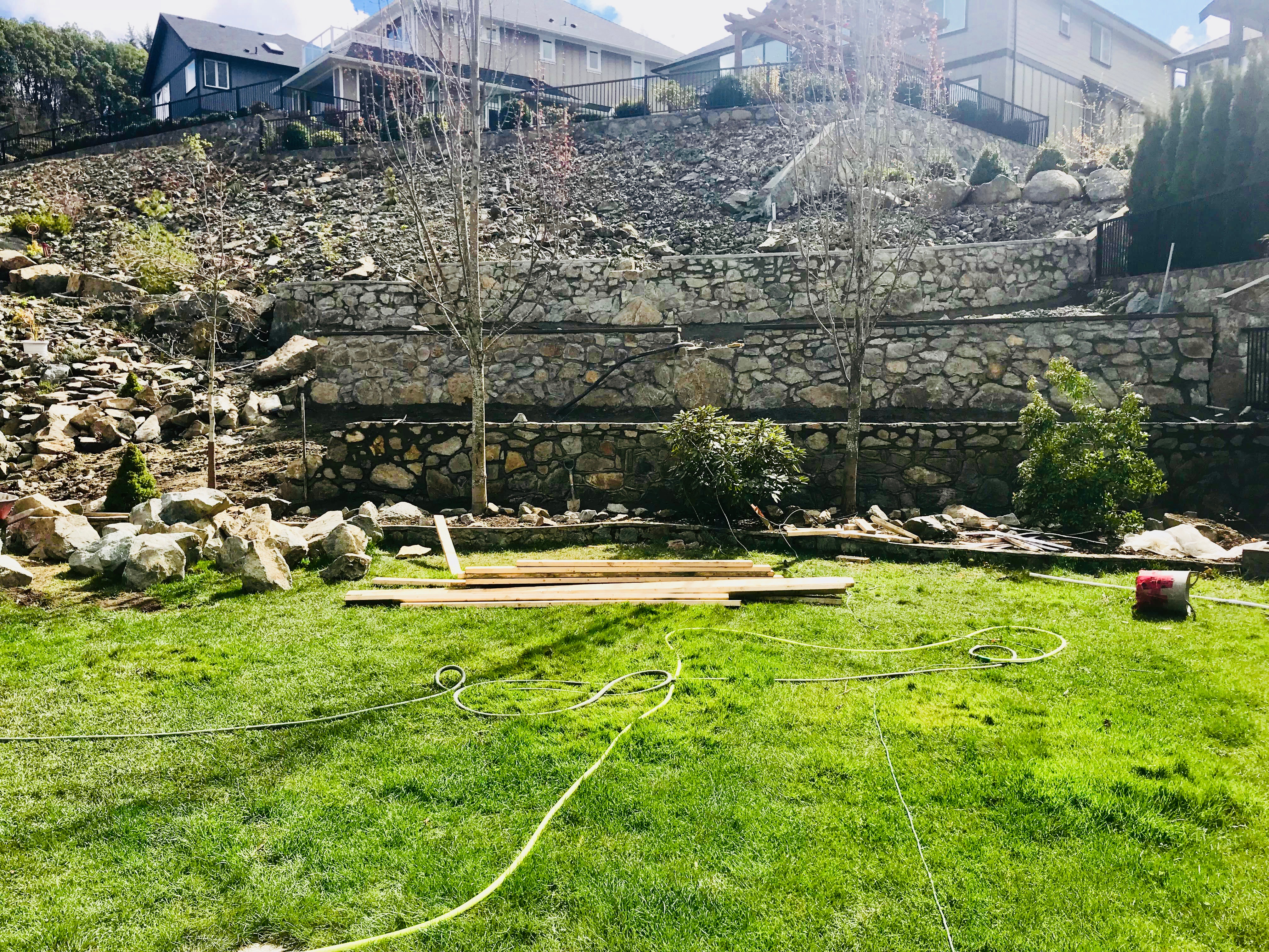 Stone Retaining Walls, Lennox Masonry, Victoria, BC, 6