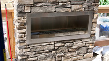 Exterior Stone Fireplace and Patio Walls