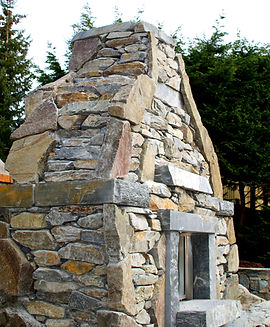 Stone Fireplace, Victoria BC, Lennox Mas