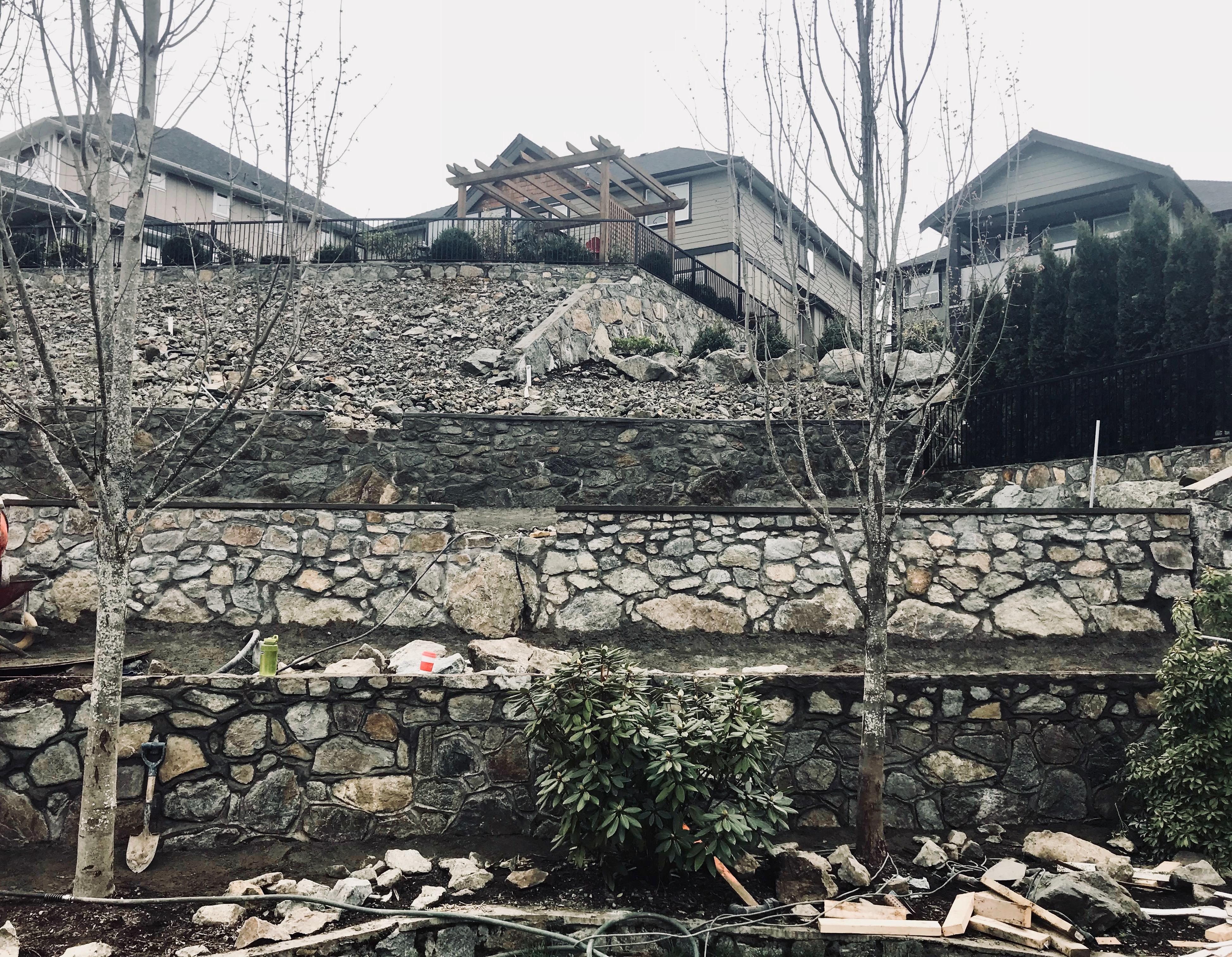 Stone Retaining Walls, Lennox Masonry, Victoria, BC, 5