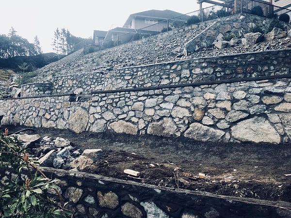 Stone Retaining Walls, Lennox Masonry,Victoria, BC