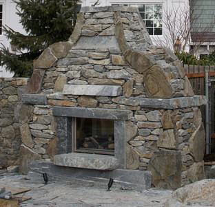 Stone Fireplace, Victoria BC, Lennox Masonry