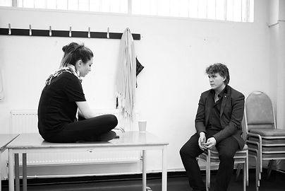 Noah Mosley, Ella Marchment, rehearsal
