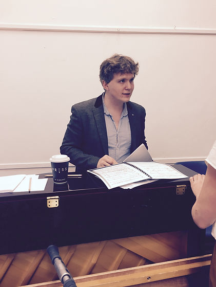 Noah Mosley rehearsal shot, Mad King Suibhne