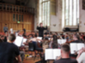 Noah Mosley conductng, Advance Conducting Fellow, Dartington International Summer School