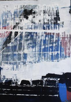 Nieve - 120 x 60 cm - Acrylic on paper-