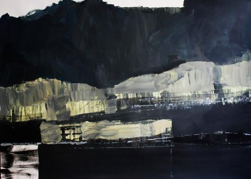 Nocturna - 70 x 100 cm - Acrylic on pape