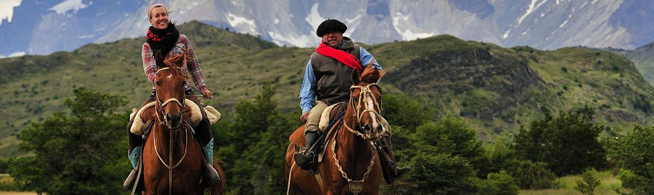 Arjantin Turu, Patagonya'da atla gezen insanlar