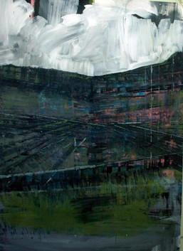 Pucon - 120 x 70 cm - Acrylic on paper -