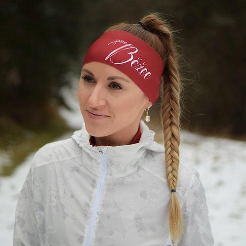 Čelenka Jsem běžec široká - červená