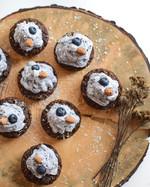 Blue Cupcakes s borůvkovým krémem - bez cukru a bez lepku