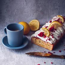 Citrónovo-malinový dortík