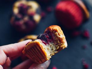 Malinové muffiny s čokoládou
