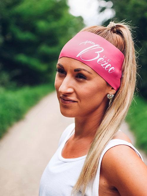 Čelenka Jsem běžec široká - růžová