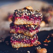 Malinovo-makový koláč bez mouky