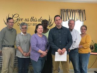 Love of Christ Church Donates to Our Daily Bread