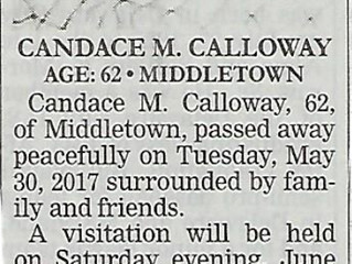 Candace M. Calloway - Rest in Peace