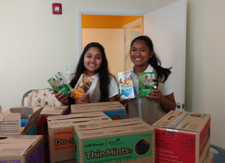 Girl Scouts Service Unit 13 Donate Cookies to ODB