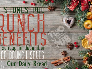 Our Daily Bread Donation from Two Stones - Middletown - 25% of Sunday Brunch sales in December