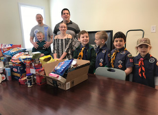 Townsend Cub Scout Pack 351 Donates to Our Daily Bread Dining Room